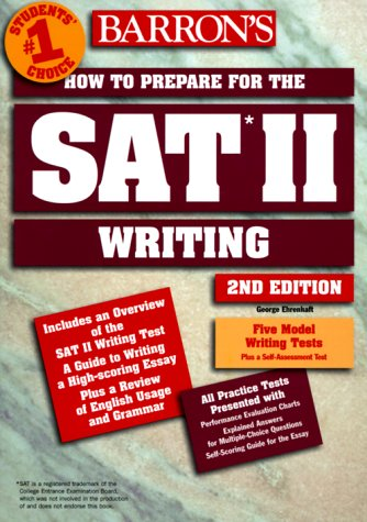 How to Prepare for the SAT II Writing 2nd 1998 (Revised) 9780764104633 Front Cover