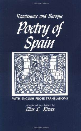 Renaissance and Baroque Poetry of Spain  Reprint  edition cover