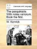 Pasquinade with Notes Variorum Book The  N/A edition cover