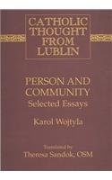 Person and Community Selected Essays 2nd 2008 edition cover