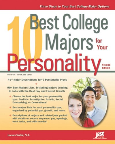10 Best College Majors for Your Personality  2nd 2011 edition cover