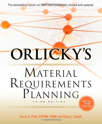 Orlicky's Materials Requirements Planning  3rd 2011 edition cover