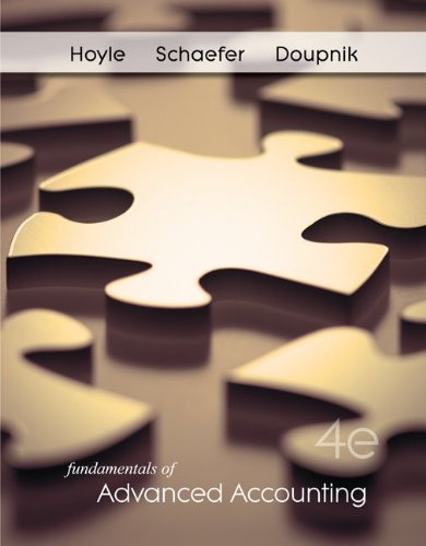 Fundamentals of Advanced Accounting  4th 2011 edition cover
