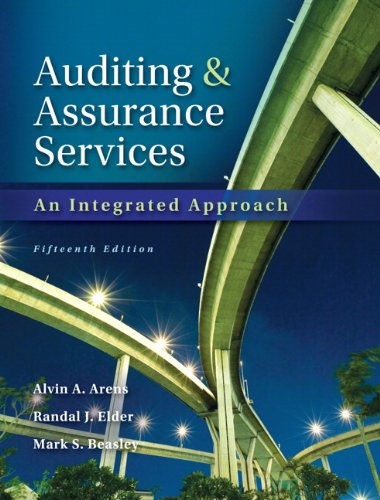 Auditing and Assurance Services  15th 2014 9780133125634 Front Cover