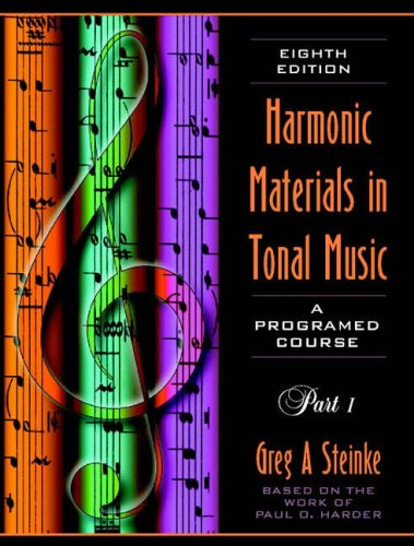 Harmonic Materials in Tonal Music A Programmed Course 8th 1998 edition cover