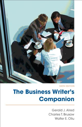 Business Writer's Companion  6th 9780312609634 Front Cover