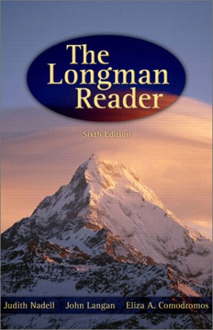 Longman Reader  6th 2003 9780321142634 Front Cover