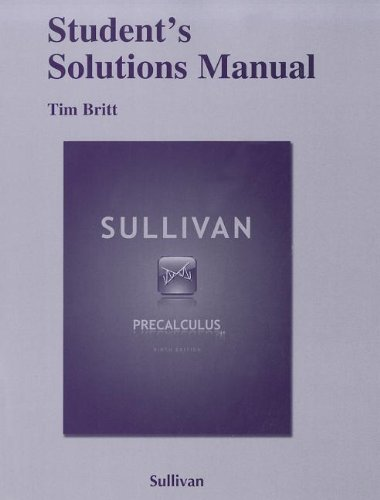 Student Solutions Manual for Precalculus  9th 2012 (Revised) edition cover