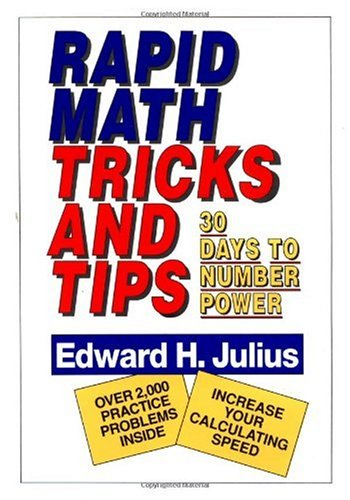 Rapid Math Tricks and Tips 30 Days to Number Power  1992 edition cover