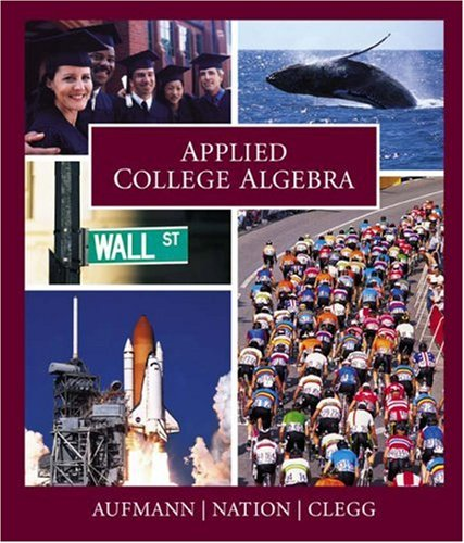 Applied College Algebra  2004 9780618073634 Front Cover