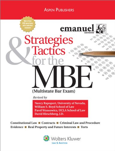 Strategies and Tactics for MBE 2008  Student Manual, Study Guide, etc. edition cover