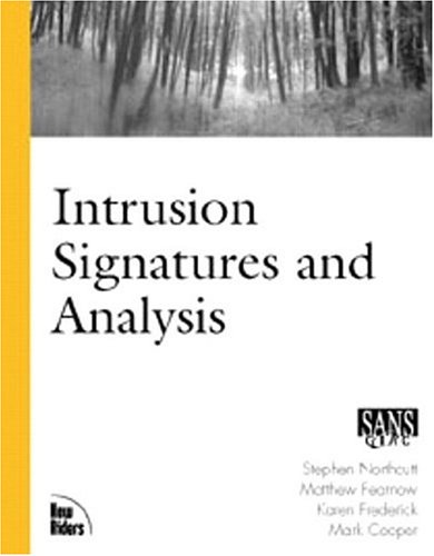 Intrusion Signatures and Analysis   2001 edition cover