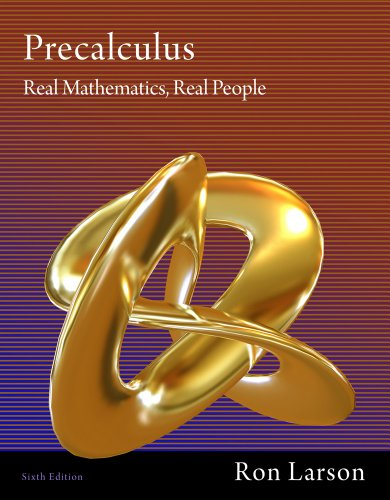 Precalculus Real Mathematics, Real People 6th 2012 edition cover