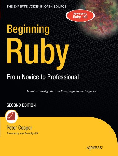 Beginning Ruby  2nd 2009 9781430223634 Front Cover