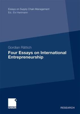 Four Essays on International Entrepreneurship   2011 9783834931634 Front Cover