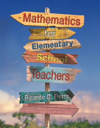 Mathematics for Elementary School Teachers   2013 edition cover