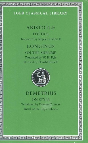 Poetics. Longinus On the Sublime. Demetrius - On Style 2nd 1995 (Revised) edition cover