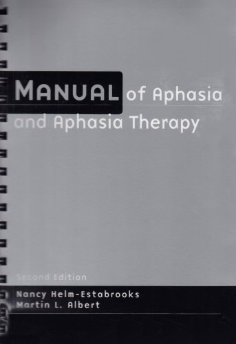 Manual of Aphasia Therapy  2nd 2003 edition cover