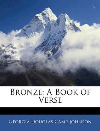 Bronze A Book of Verse N/A 9781145979635 Front Cover