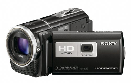 Sony HDR-PJ10 High Definition Handycam Camcorder with Built-in Projector (Black) product image