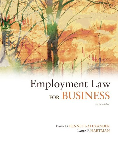 Employment Law for Business  6th 2009 edition cover