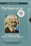 NEW MyHistoryLab with Pearson EText -Standalone Access Card - for the American Journey  7th 2014 edition cover