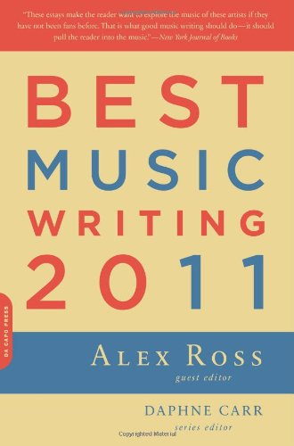 Best Music Writing 2011   2011 edition cover