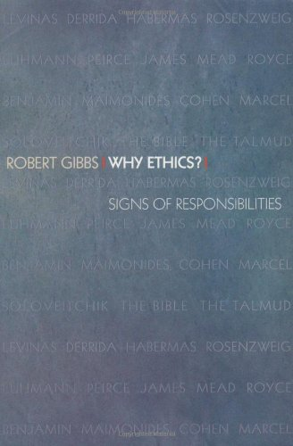Why Ethics? Signs of Responsibilities  2001 edition cover