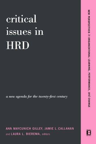 Critical Issues in Hrd A New Agenda for the Twenty-First Century  2003 9780738207636 Front Cover