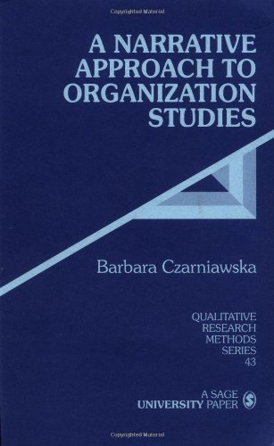 Narrative Approach to Organization Studies   1997 edition cover