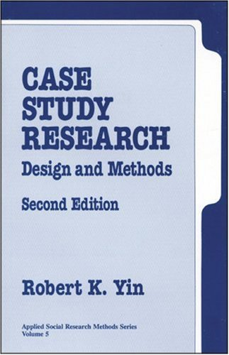 Case Study Research Design and Methods 2nd 1994 edition cover