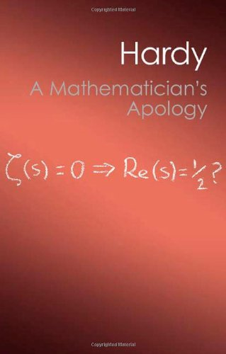 Mathematician's Apology   2012 edition cover