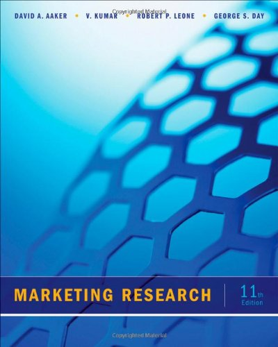 Marketing Research  11th 2013 edition cover