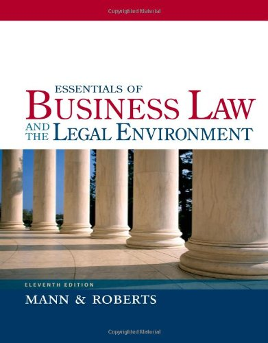 Essentials of Business Law and the Legal Environment  11th 2013 edition cover