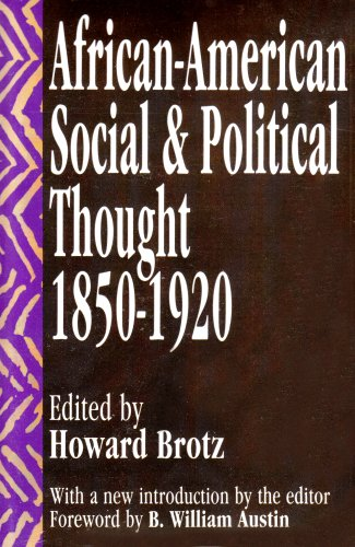 African-American Social and Political Thought 1850-1920 Revised  edition cover