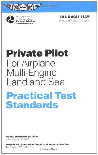 Private Pilot for Airplane Multi-Engine Land and Sea Practical Test Standards #FAA-S-8081-14A (multi)  2003 9781560274636 Front Cover