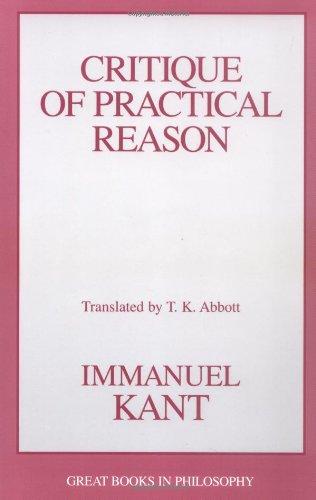 Critique of Practical Reason  Unabridged 9781573920636 Front Cover