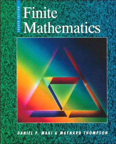 Finite Mathematics  4th 1996 (Revised) edition cover