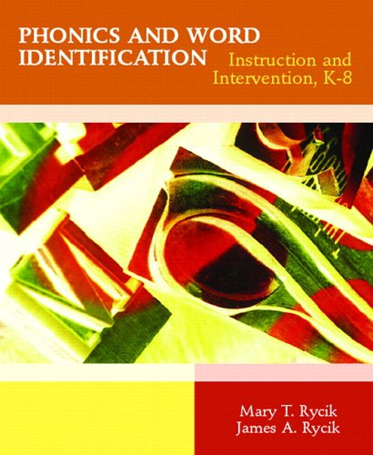 Phonics and Word Identification Instruction and Intervention, K-8  2007 edition cover
