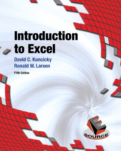 Introduction to Excel  5th 2013 (Revised) edition cover