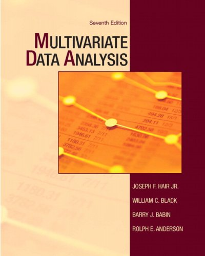 Multivariate Data Analysis  7th 2010 edition cover