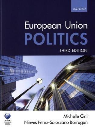 European Union Politics  3rd 2009 edition cover