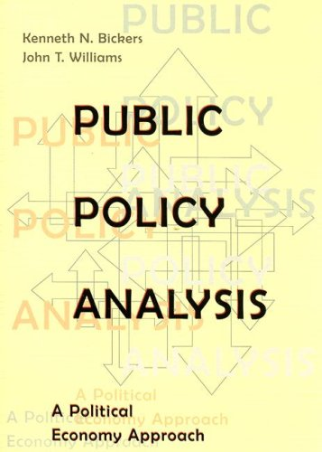 Public Policy Analysis A Political Economy Approach  2001 edition cover
