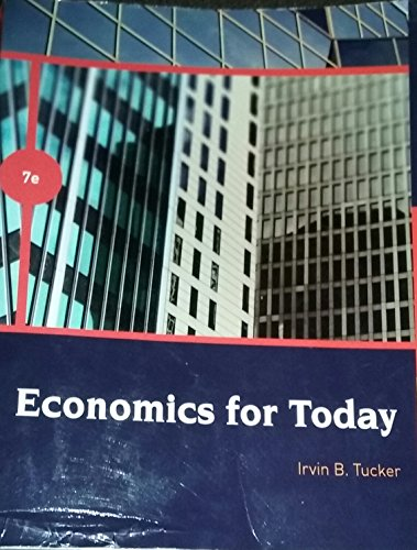 ECONOMICS FOR TODAY-TEXT >CUSTOM<       N/A 9780495970637 Front Cover