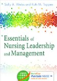 Essentials of Nursing Leadership & Management:   2014 9780803636637 Front Cover