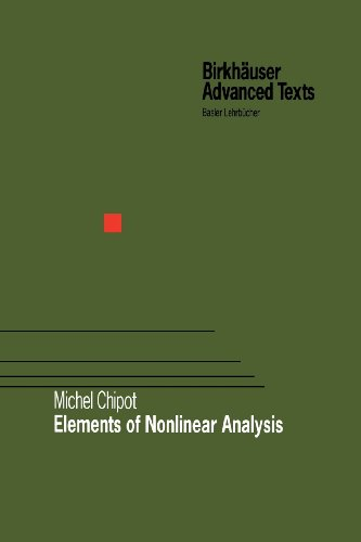 Elements of Nonlinear Analysis   2000 edition cover