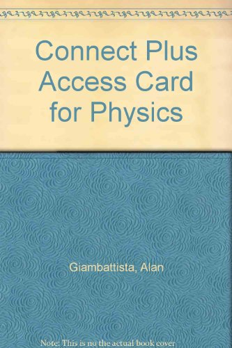 Physics Connect Plus Access Card:   2009 9780077320638 Front Cover