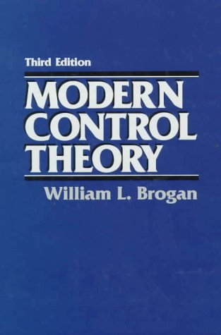 Modern Control Theory  3rd 1991 edition cover