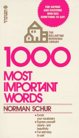 1000 Most Important Words  N/A edition cover