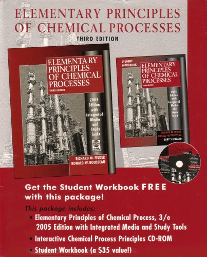 Elementary Principles of Chemical Processes 2005  3rd 2005 (Revised) edition cover